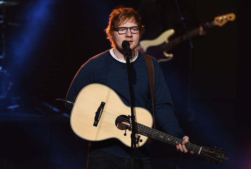 "Here's a drunk Ed Sheeran rapping Nicki Minaj's ""Monster"" verse"