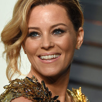Elizabeth Banks wearing Gigi Hadid's Tommy Hilfiger collab is an awesome mashup of girl power
