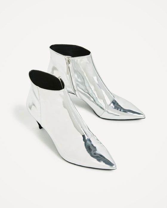 silver trend boots