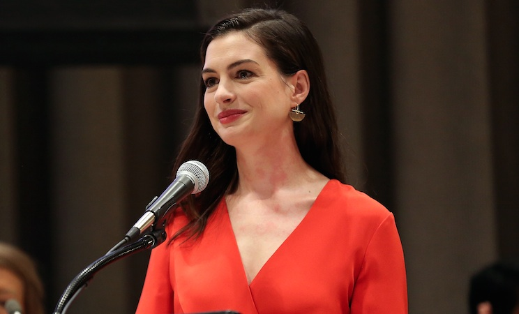 "Anne Hathaway opened up about ""mommy guilt,"" and why it has to stop"