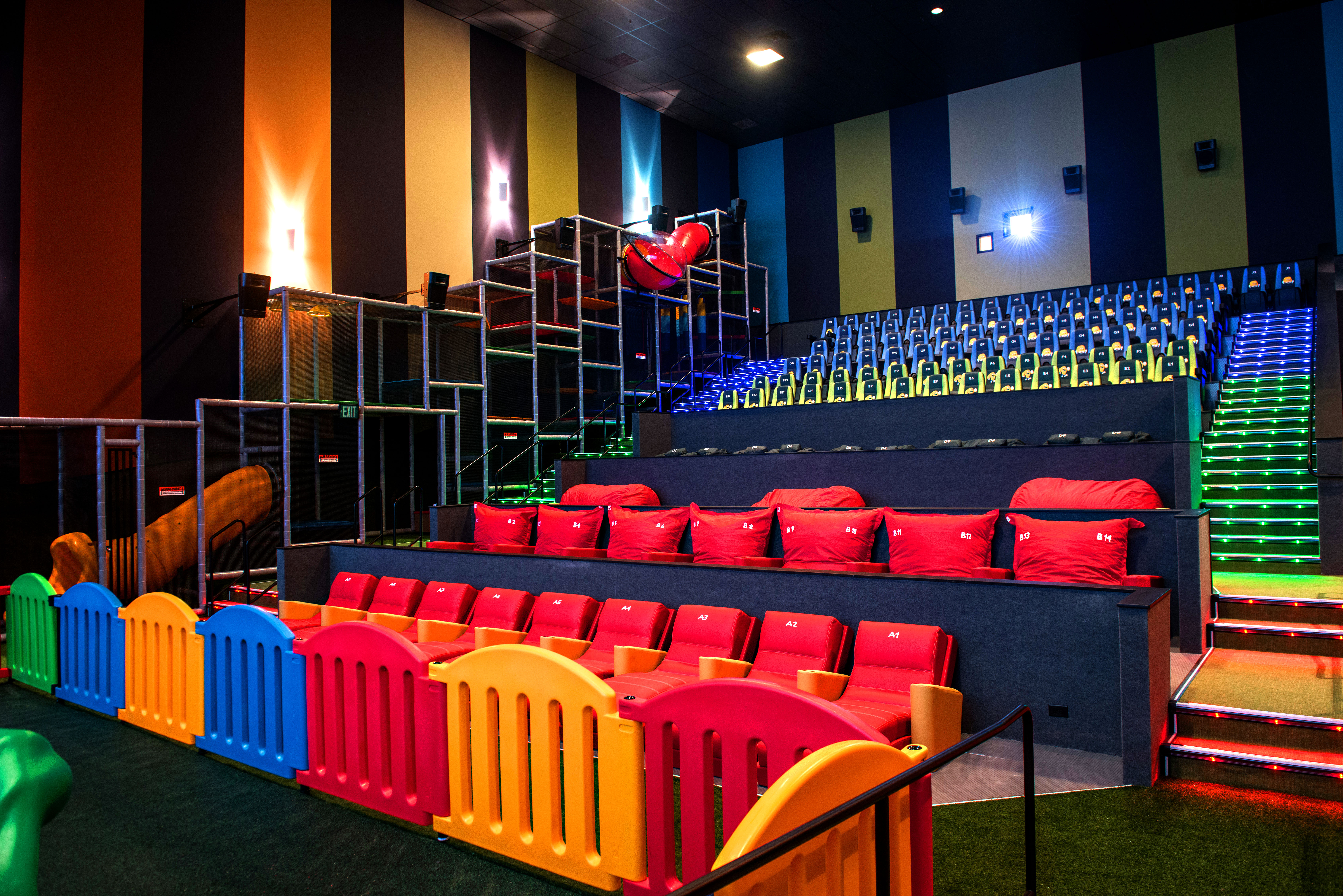 This Movie Theater Has A Jungle Gym Inside For Kids Which