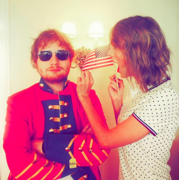 Ed Sheeran's first date with Cherry Seaborn was apparently at Taylor Swift's 4th of July party