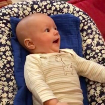 This baby is trying so hard to sing along with a ukulele, and we can hardly handle it