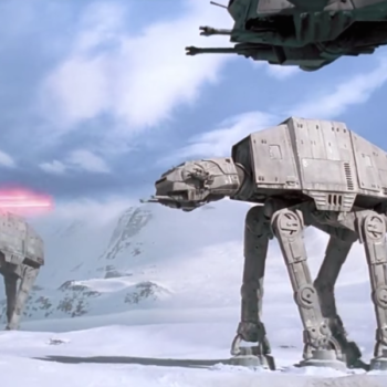 Two AT-ATs just arrived at Disneyland's Star Wars Land, and everyone is freaking out