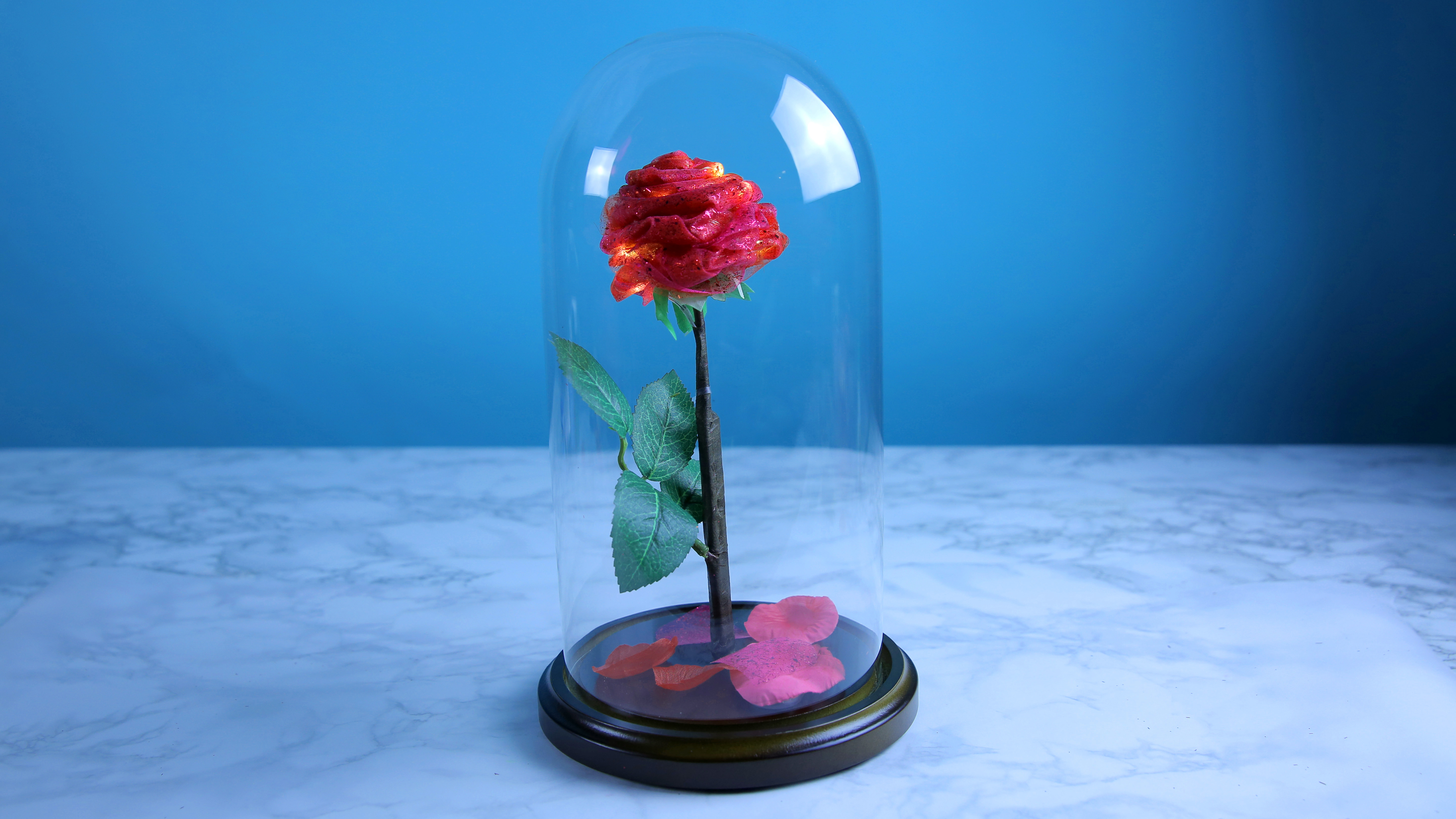 This DIY enchanted rose will light up your life