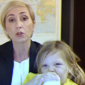 This woman parodied the BBC dad video, revealing how a mom would have rolled