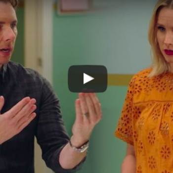 """We can't stop lol'ing over this video of Kristen Bell """"auditioning"""" to play Dax Shepard's wife"""