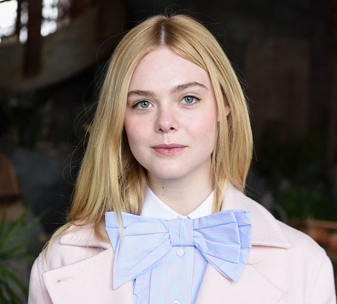 Elle Fanning's peony-pink glasses are doing more than just helping her see