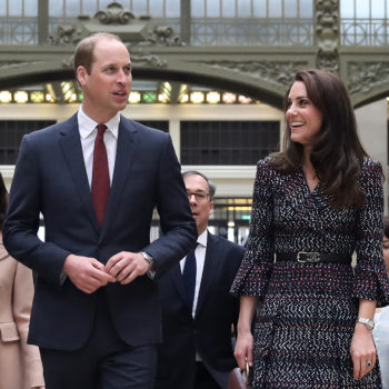 Duchess Kate and Prince William's trip into a giant clock is straight out of a fairy tale illustration