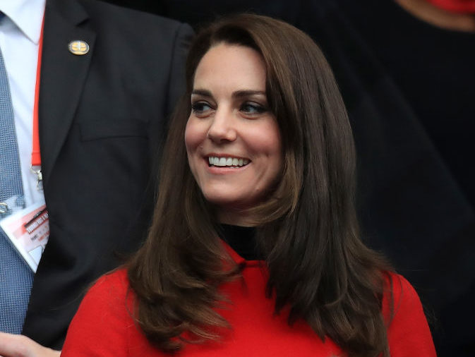Duchess Kate wore a magic eye coat dress, and we hope there's a hidden sailboat