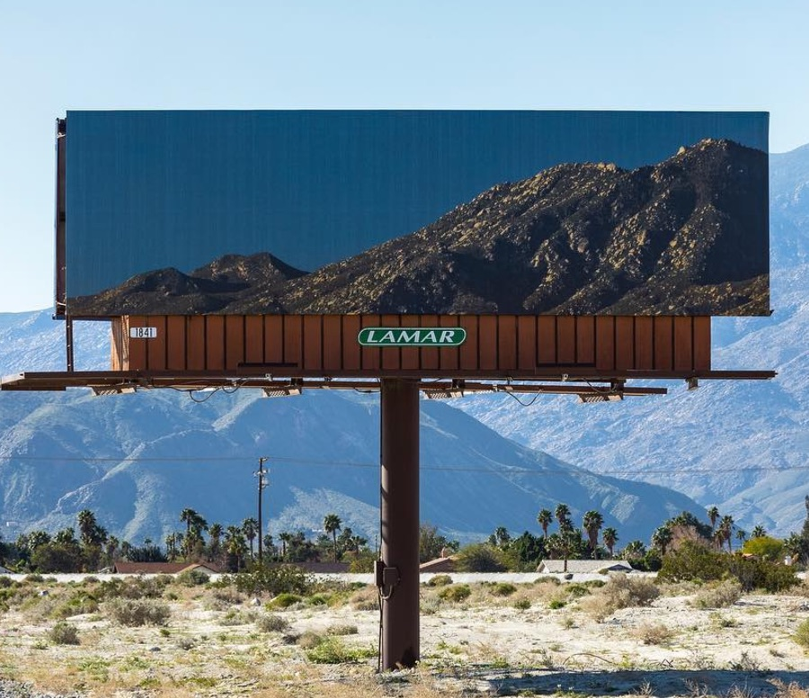 This artist transforms Palm Springs billboards into gorgeous natural vistas