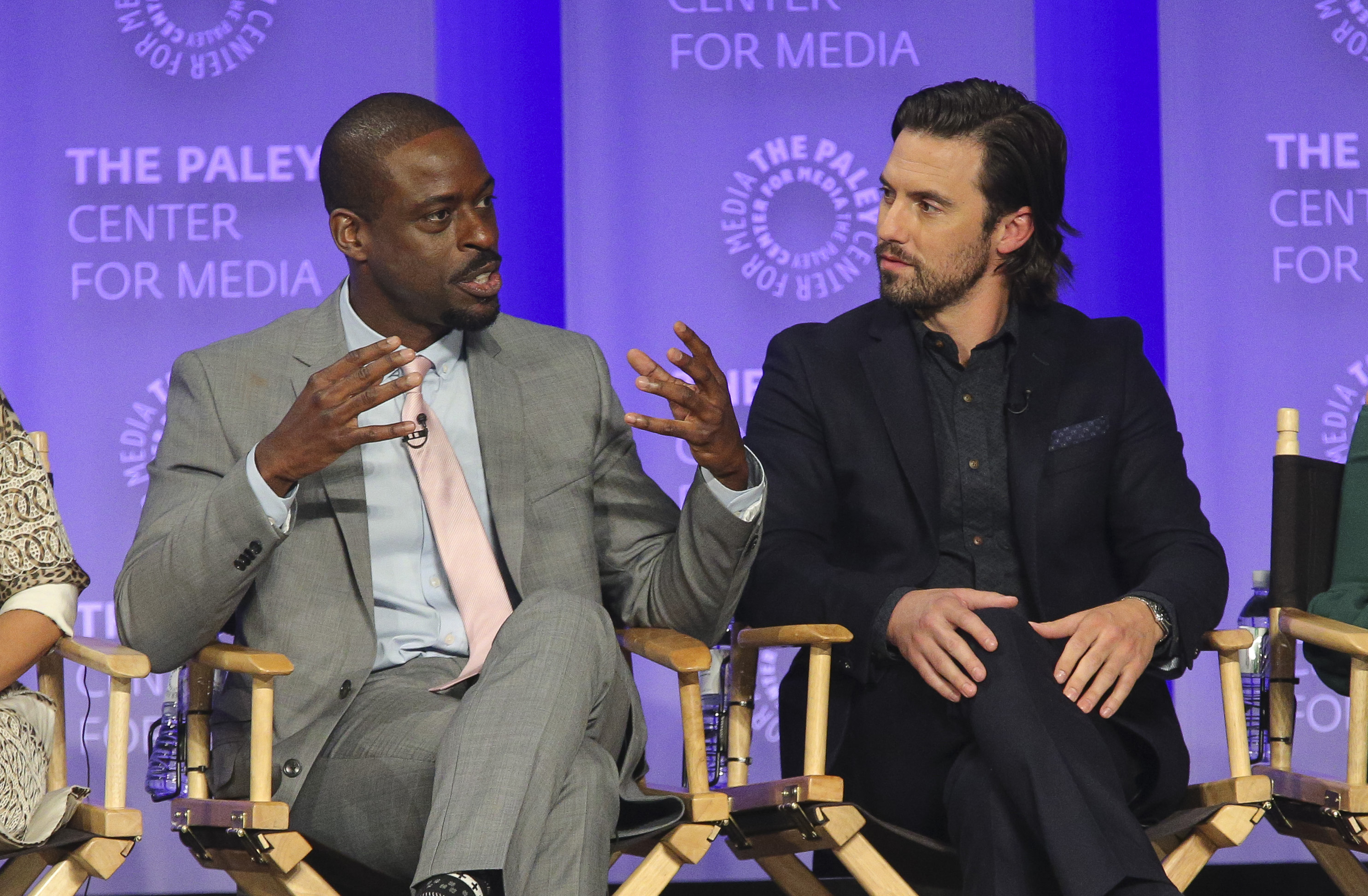 "Sterling K. Brown just learned there's a ""This Is Us"" fan theory that Jack *isn't* dead and he can't even"
