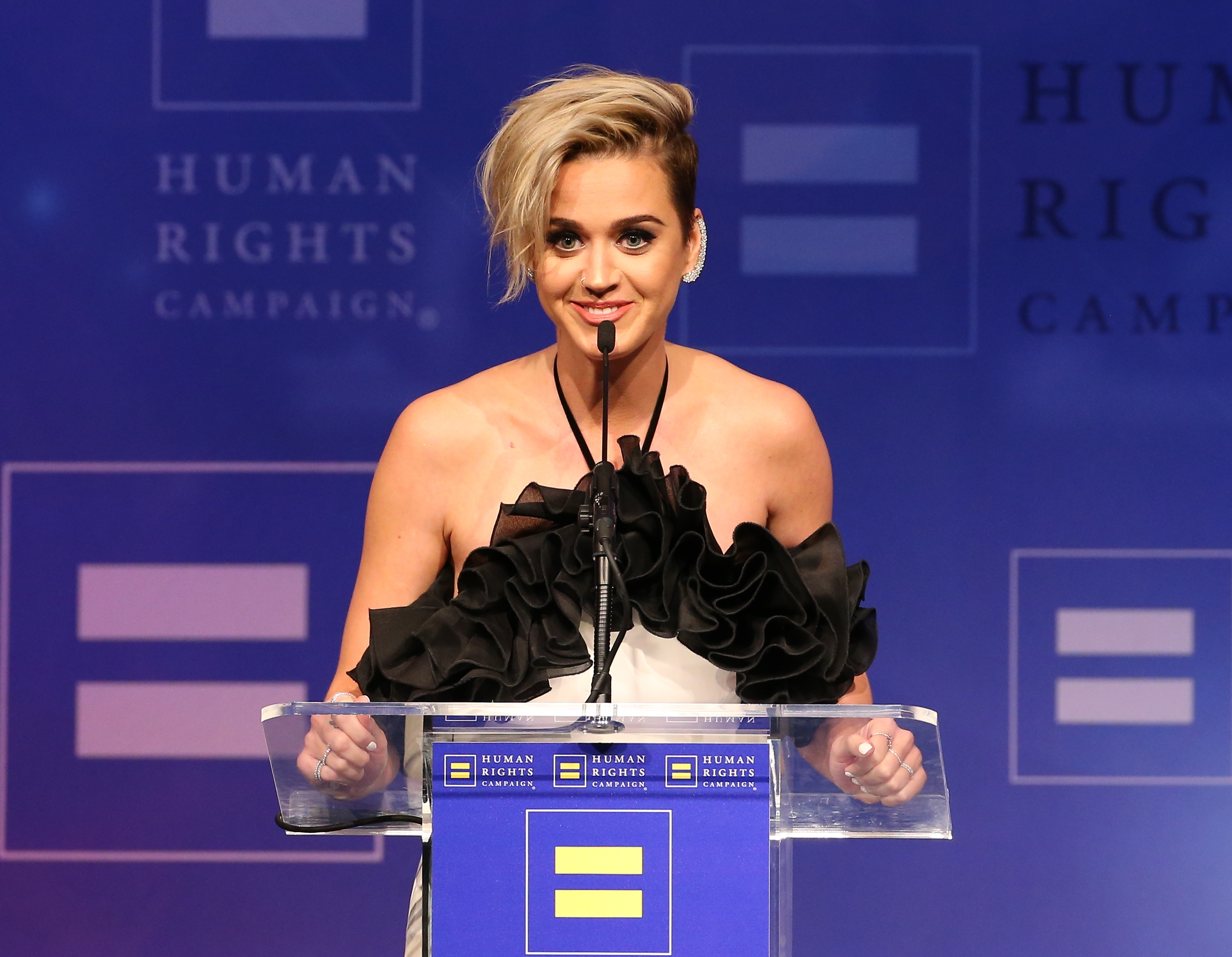 Katy Perry gave a beautifully honest speech about becoming an LGBTQ ally at the Human Rights Campaign Gala