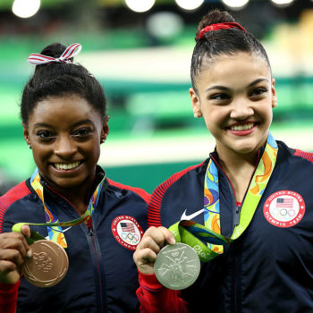 """Laurie Hernandez cheering for Simone Biles on """"DWTS"""" is Olympic-sized friendship goals"""