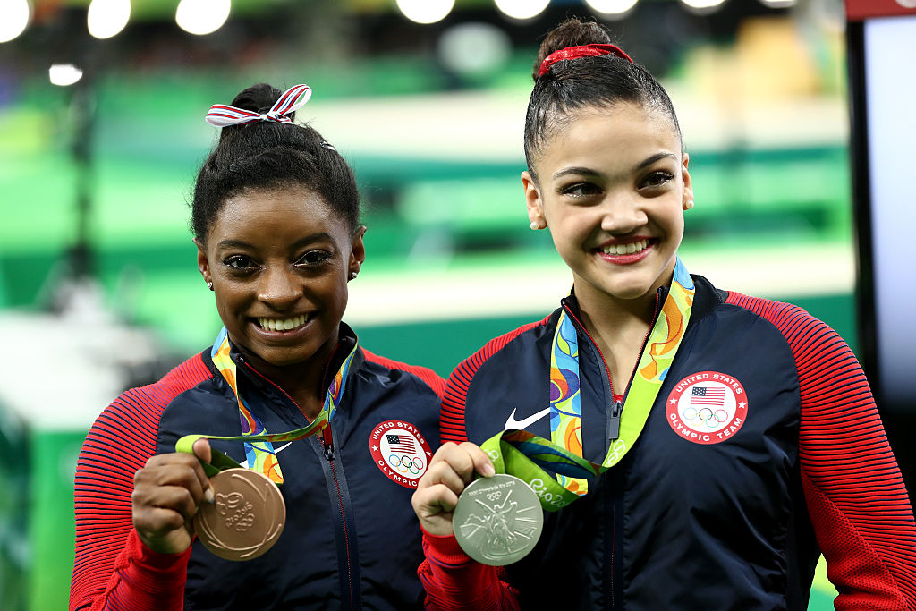 "Laurie Hernandez cheering for Simone Biles on ""DWTS"" is Olympic-sized friendship goals"
