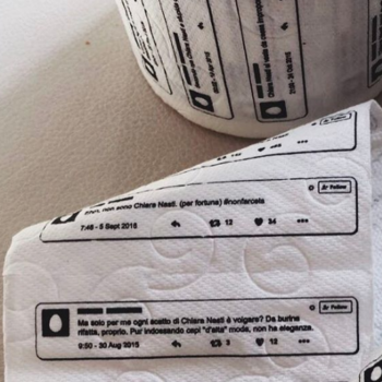 This fashion blogger created special toilet paper using her haters