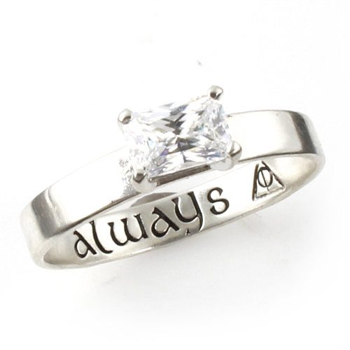18always engraved engagement ring 150 - Harry Potter Wedding Rings