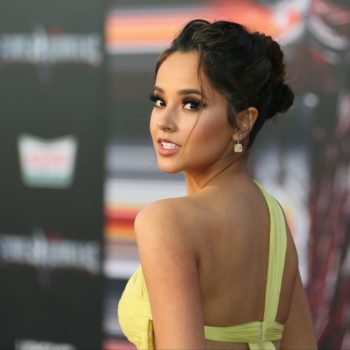 """Becky G.'s dress at the """"Power Rangers"""" premiere would be a perfect bridesmaid dress"""