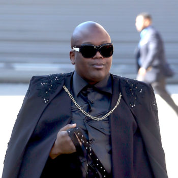 Yes, that is Tituss Burgess casually walking a peacock on a leash through NYC
