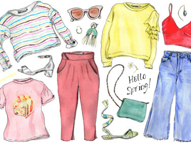 Let's make your spring wardrobe pop, illustrated