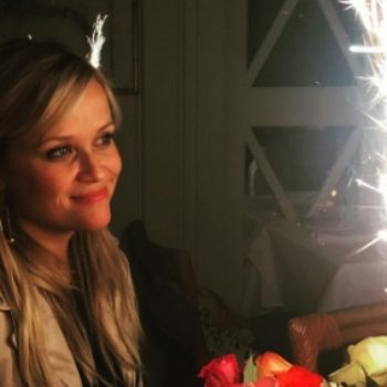 Reese Witherspoon celebrated her 41st birthday with her twins (aka, kids)