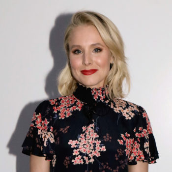Kristen Bell shows us how to pair goth floral with tights — here's how to copy her look