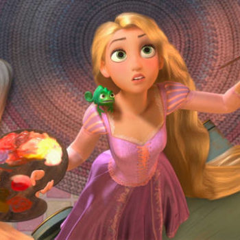 "Mandy Moore just learned an intense ""Tangled""/""Frozen"" fan theory, and she's worried about all of us"
