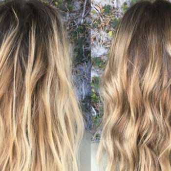 Gloss smudging is the hair highlighting trend you're about to see everywhere