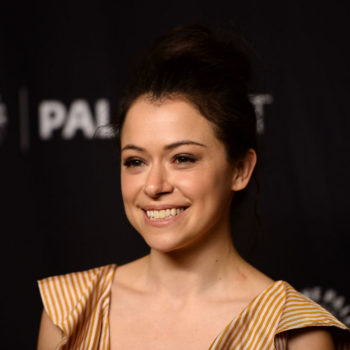Tatiana Maslany wore sneakers with a party dress, and now we want to wear sneakers with a party dress