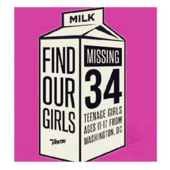 Celebrities are reacting to the #MissingDCGirls in an incredibly powerful way