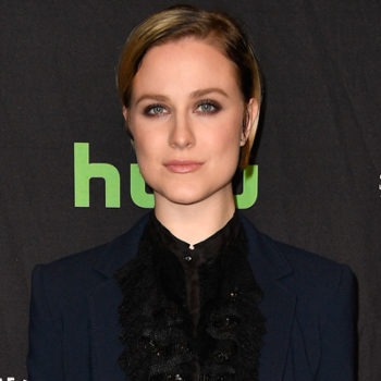 "Evan Rachel Wood kept up her all-suit promise with a devilishly gorgeous midnight blue version at the ""Westworld"" PaleyFest panel"