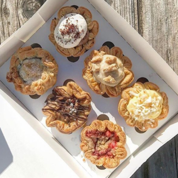 These tiny pies are almost too adorable to eat, but of course we still will because pie