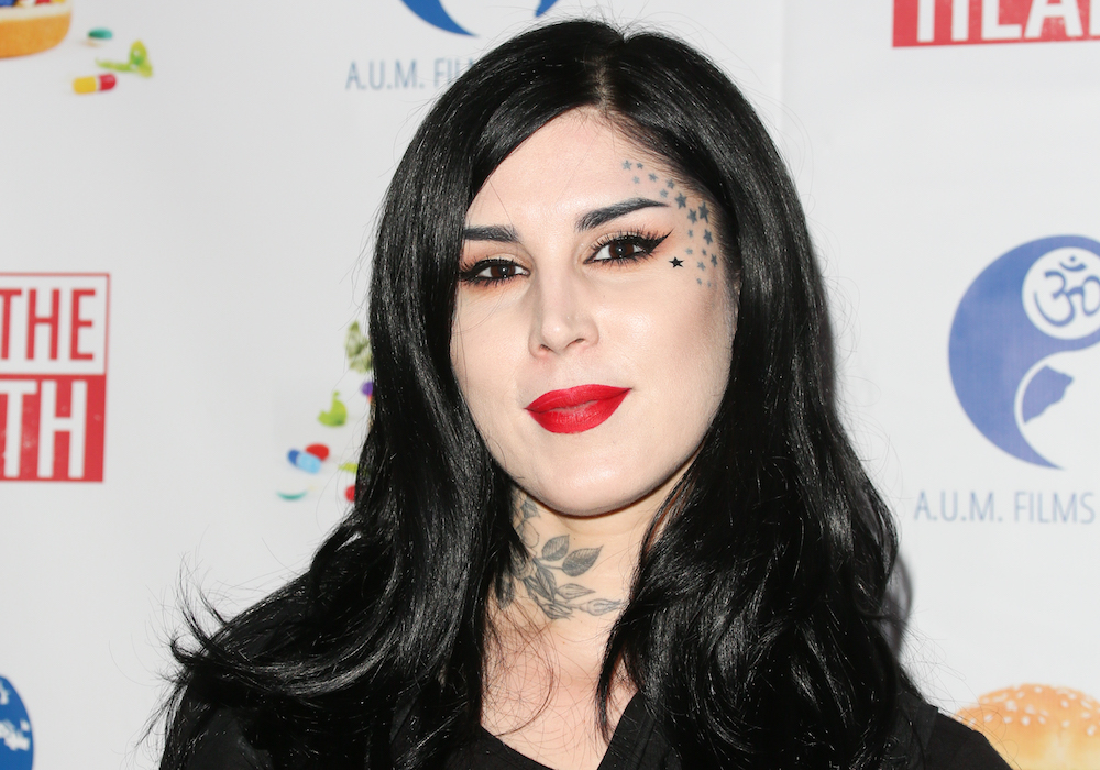 We are freaking out over this mysterious gold shimmer packaging from Kat Von D Beauty