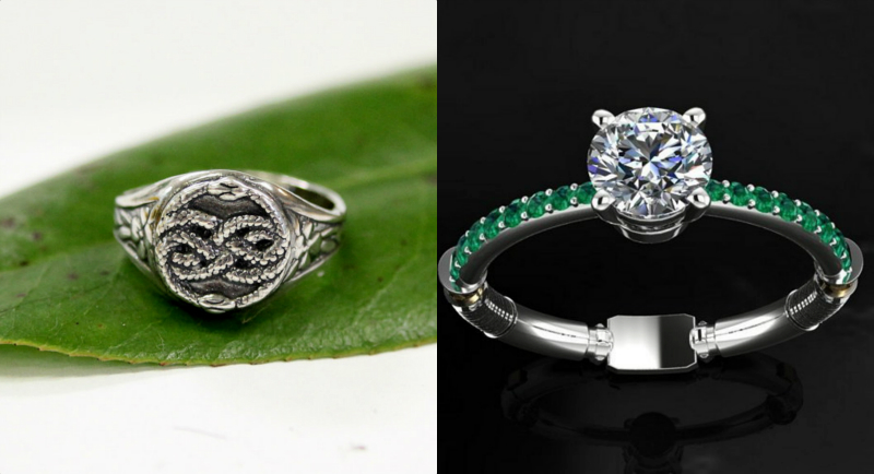 """From """"Harry Potter"""" to """"The NeverEnding Story,"""" here are 20 fantasy-themed engagement rings"""