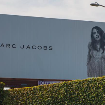 Marc Jacobs had a surprising reaction to Frances Bean Cobain defacing her own face on a billboard