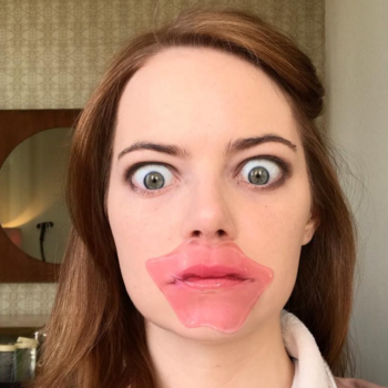 Emma Stone helped turn lip masks into the biggest bridal beauty trend of the year