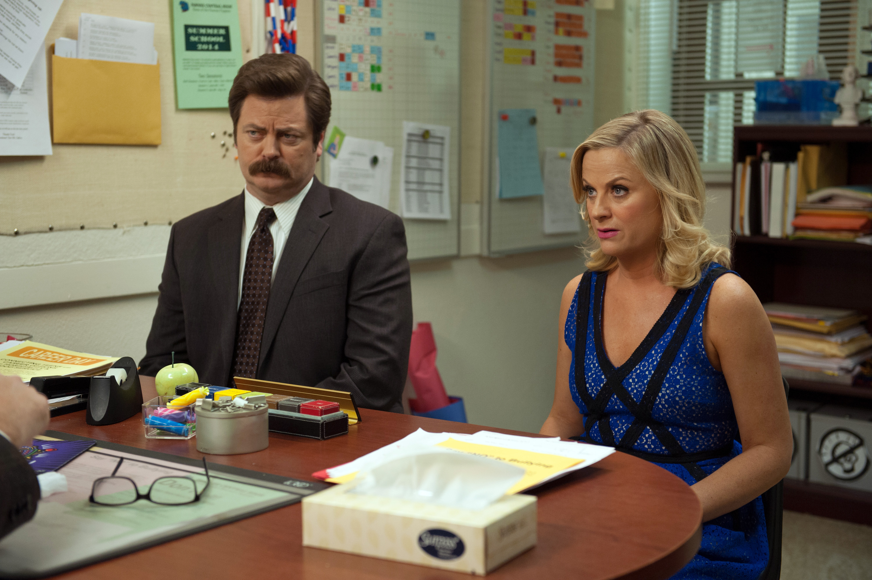 Not a drill, Amy Poehler and Nick Offerman have a brand new show together