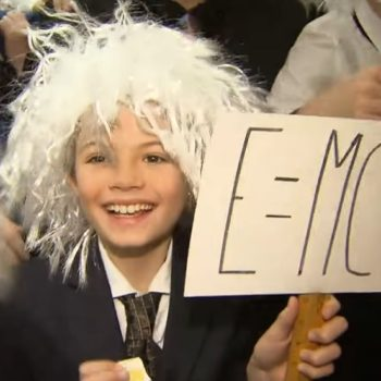 A bunch of people dressed up like Albert Einstein to break this record