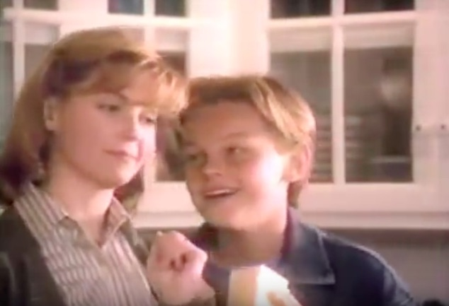 It's time to watch a young Leonardo DiCaprio in this Kraft cheese commercial