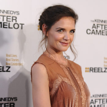 Katie Holmes' high ponytail is a look you'd print out and bring to your hairstylist