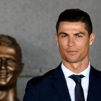 This bust of soccer player Cristiano Ronaldo is terrifying, but the internet's reaction is hilarious