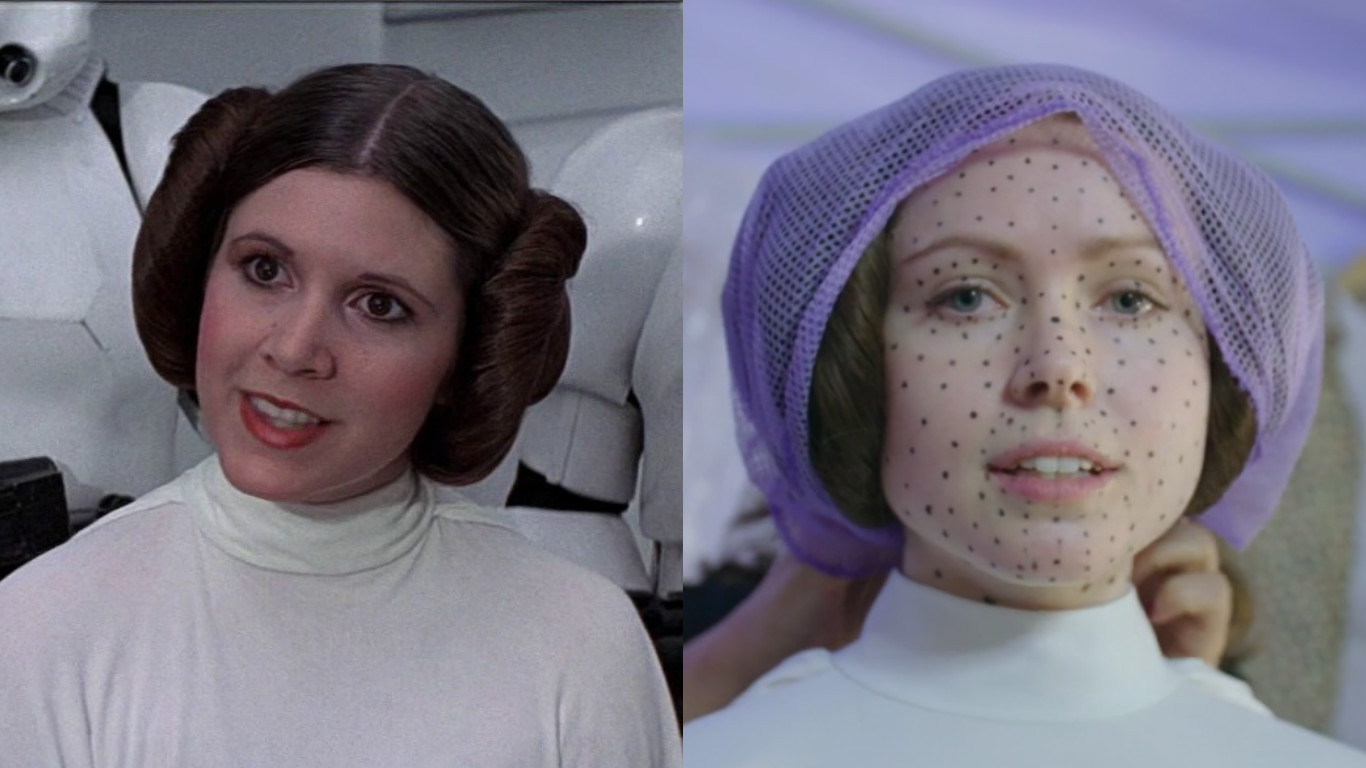 """Here's what the actress playing Princess Leia in """"Rogue One"""" looked like *before* she became Princess Leia"""