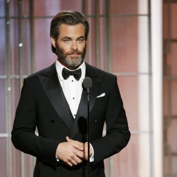 Chris Pine just debuted a shaved head, because who needs hair?