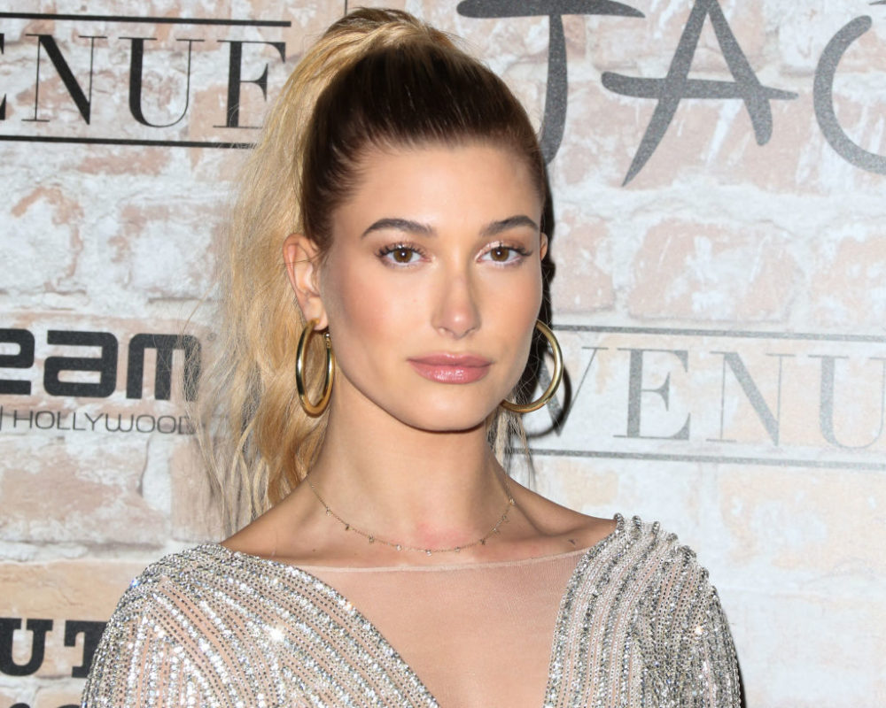 "Hailey Baldwin dancing to Britney Spears' ""Baby One More Time"" in basketball shorts and a sports bra is perfection"