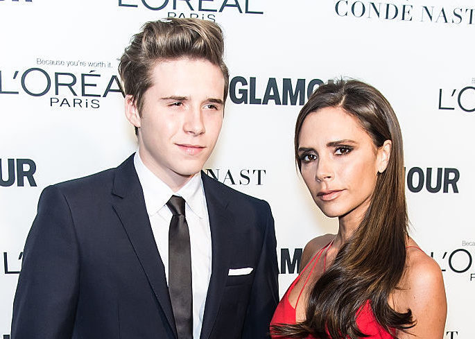Victoria Beckham couldn't be more proud when talking about son Brooklyn going to college
