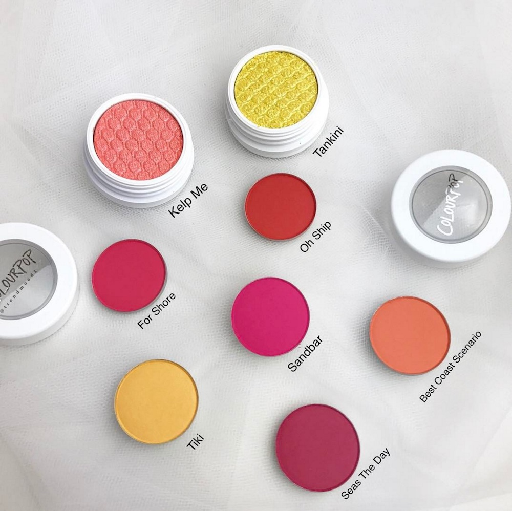 ColourPop Cosmetics is coming out with new beach-themed eyeshadows