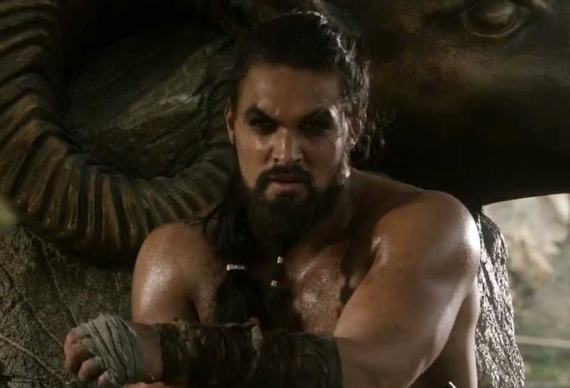 We need to talk about how Jason Momoa's IRL look is like if Khal Drogo got a 2017 makeover