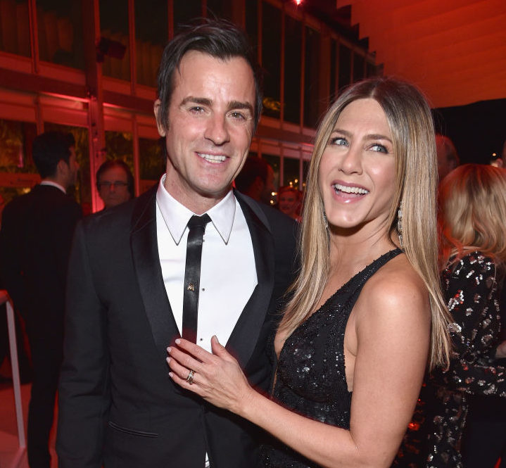 Justin Theroux celebrated Jennifer Aniston's birthday with a candy-less piñata