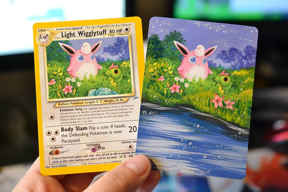 These Pokémon fans are turning their old trading cards into stunning works of art