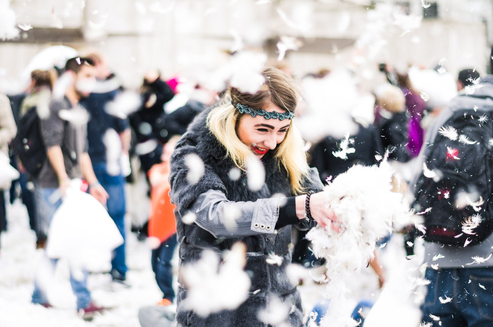 International Pillow Fight Day is a thing, and people celebrated by smacking the ISH out of each other